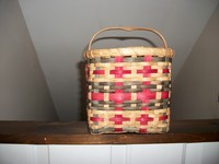 Green & Red Plaid Gift Basket