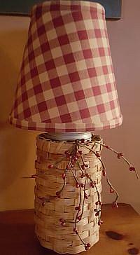 #CANJAR Caning Jar Lamp with Shade