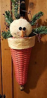 #smhat Snowman in Santa hat