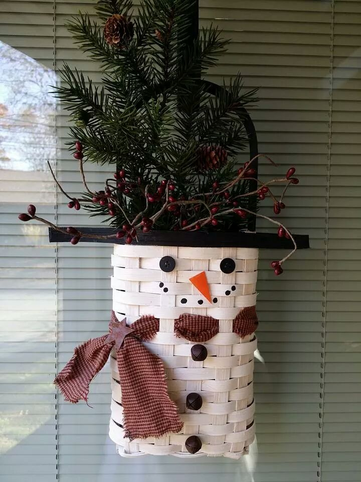 snowman door basket!