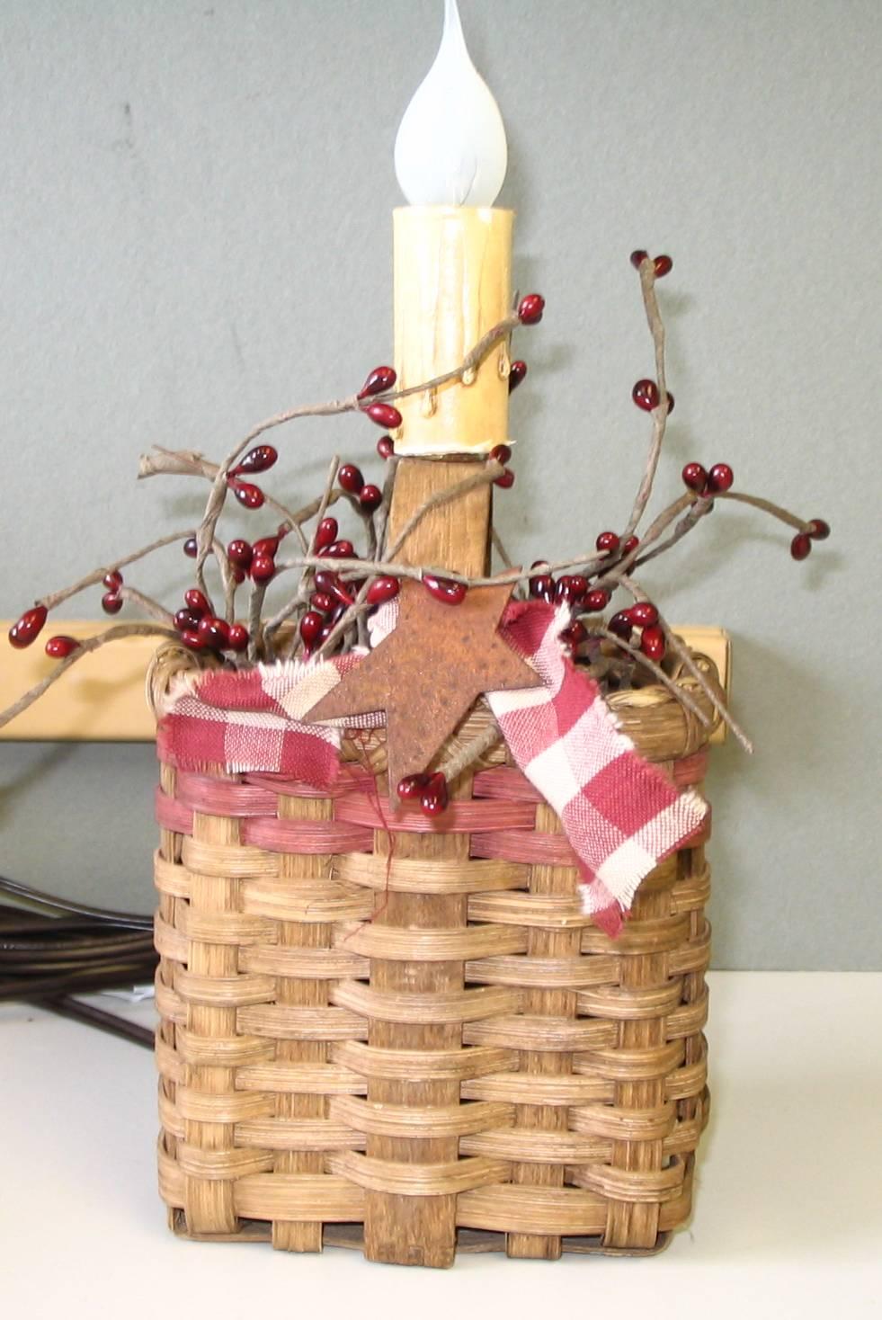 Berries & Star Basket Night Light