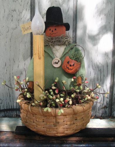 Harvest Pumpkin Pete Basket Lamp